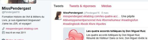 Mon compte Twitter et Mooc!