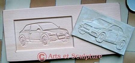 Moule à gâteau personnalisé voiture Audi1 - Arts et Sculpture: sculpteur designer
