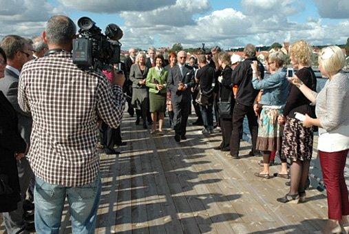 Silvia et Carl Gustav à Solvesborg