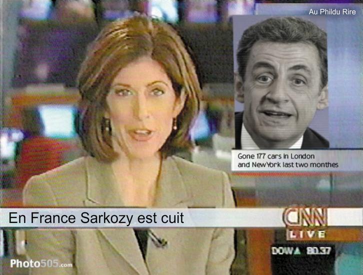 Nicolas Sarkozy en baisse après l'annonce de sa candidature !!