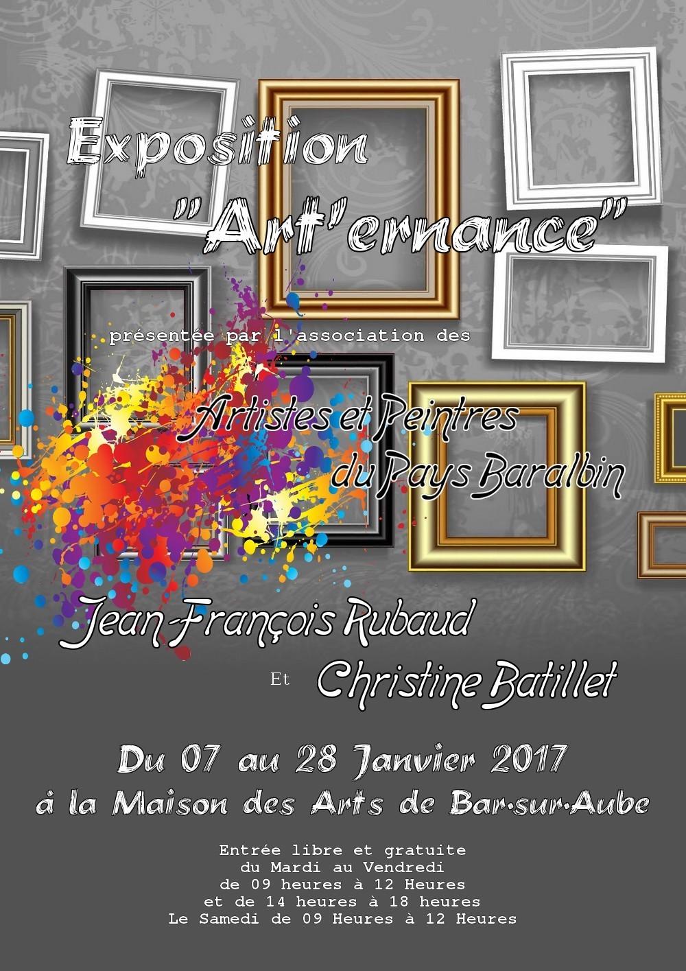 """""""Art'ernance"""" Huitième Tour - Du 07 au 28 Janvier 2017"""