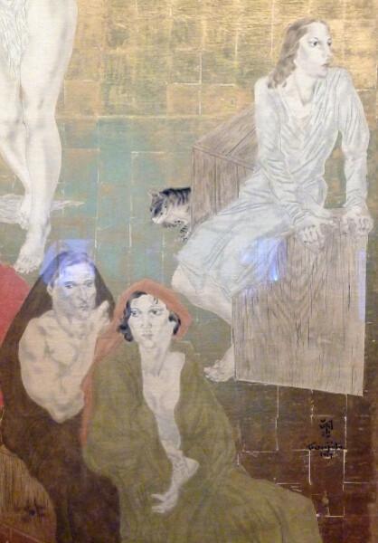 Maison du Japon - Détail Fresque Foujita Les portuguais