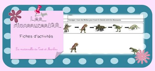 Les dinosaures : fiches d'activités GS