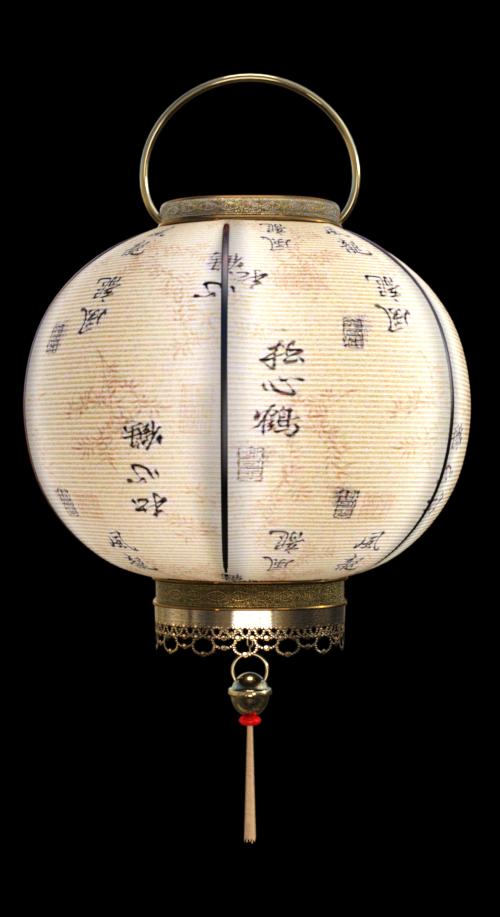 Tube de lanternes asiatiques (image-render)
