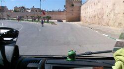 Liaison vers Meknes en vert et doré