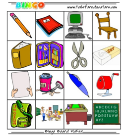 Bingo matériel scolaire