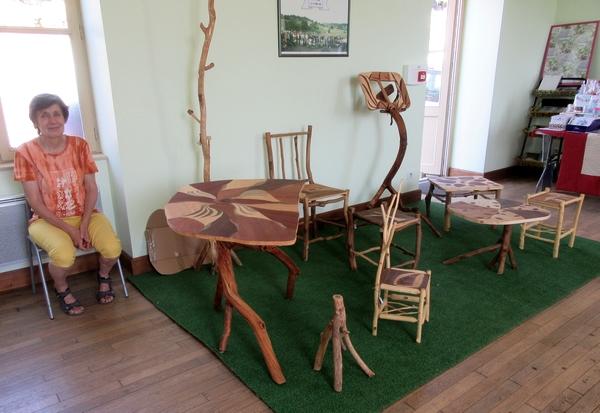 Une expôsition artisanale a eu lieu dans la mairie de Bellenod sur Seine