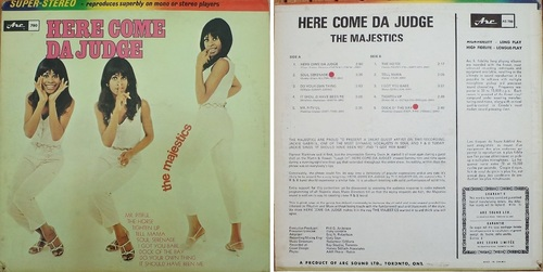 THE MAJESTICS - HERE COME DA JUDGE - ARC RECORDS AS780