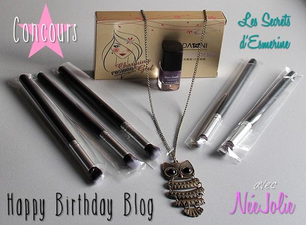 #Concours Birthday Blog avec NéeJolie...