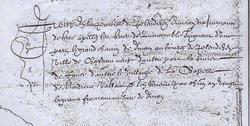 1201: Attestation de l'existence du moulin et des terres de Quencombre