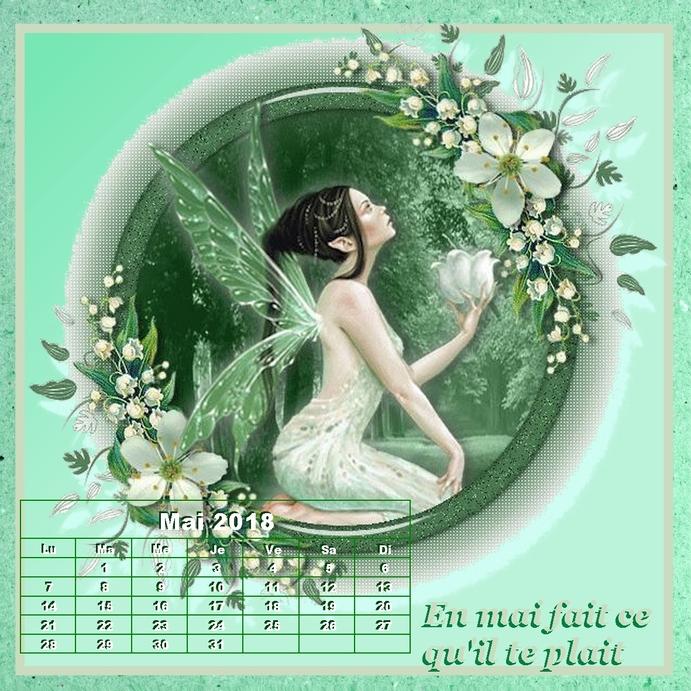 Mon calendrier de Mai