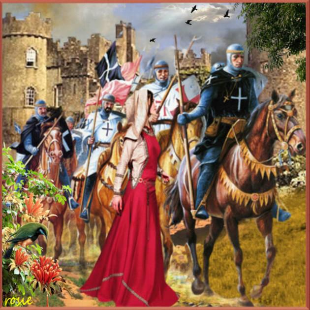 départ pour les croisades