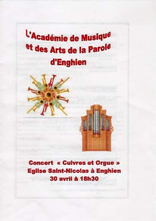 Concert Cuivres & Orgue - Académie d'Enghien - 30 avril 2015