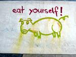 Schweinchen-Graffitti