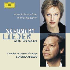 CD des lieder de Schubert accompagnés à l'orchestre