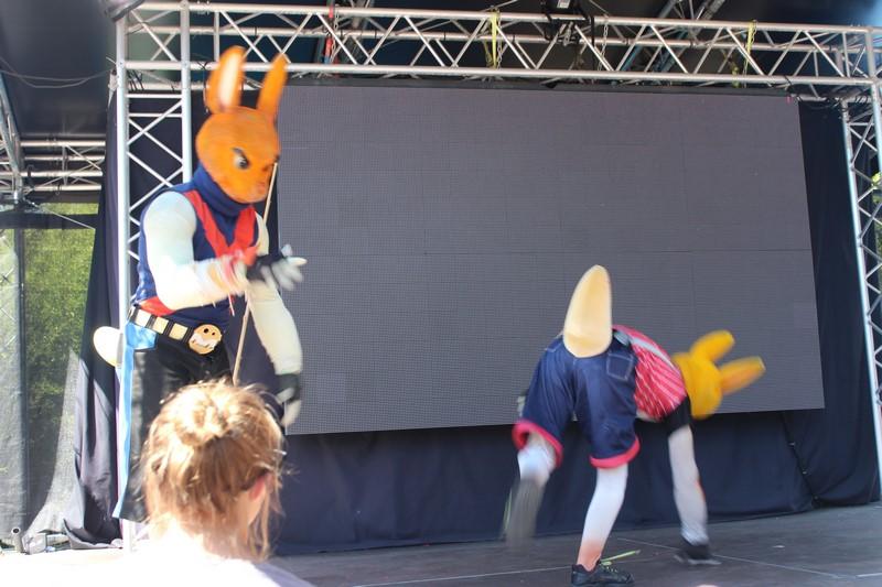 Le spectacle des mascottes