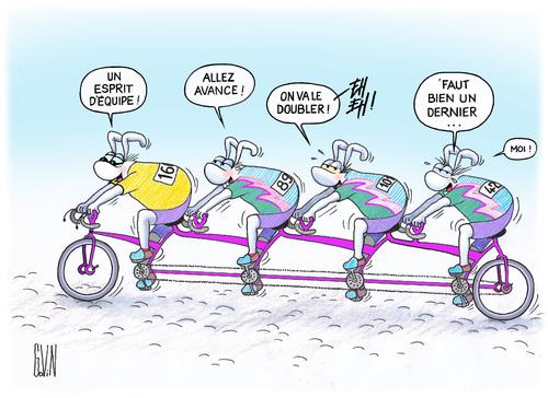 Les Lapinsgovin à vélo !