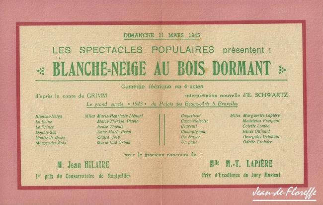 18. Blanche-Neige à Floreffe (1945)