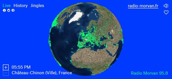 http://radio.garden/live/ Toutes les radios dans le monde entier