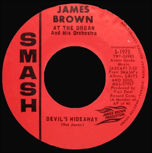 1965 James Brown At The Organ & His Orchestra : Single SP Smash Records S-1975 [ US ]