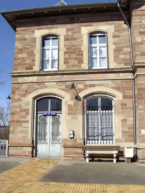 La gare de Volgelsheim (68)