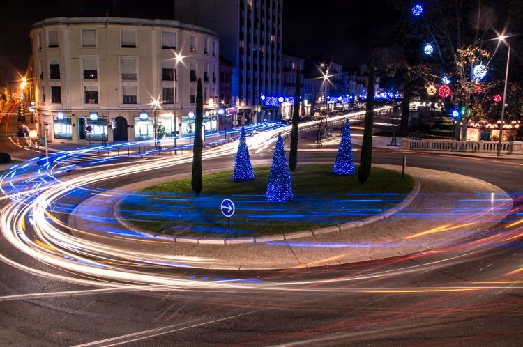 Roanne, le soir #34, place des Promenades, décembre 2013