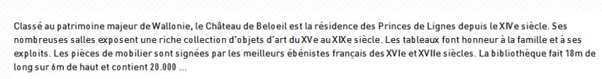 **   AU CHATEAU de BELOEIL  - LES AMARYLLIS**