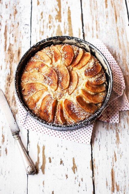 Gâteau aux pommes et poudre d'amande
