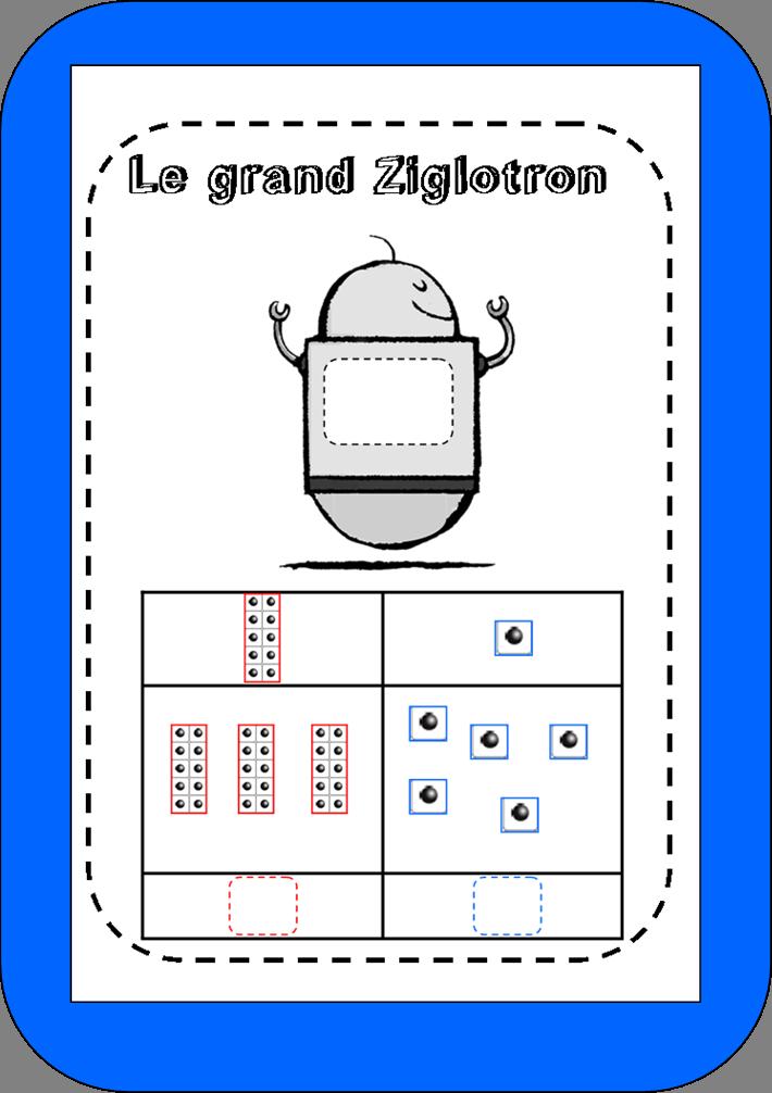 jeux des grands ziglotrons dizaine unit saperlipopette. Black Bedroom Furniture Sets. Home Design Ideas