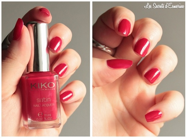 true, red, 445, vernis, Satin, Nail, Lacquer, Kiko