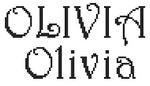 Dictons de la Ste Olivia + grille prénom  !