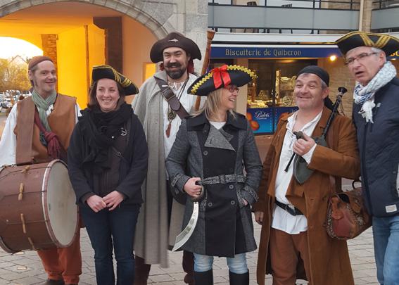 Photo-souvenir avec l'équipe municipale de Quiberon