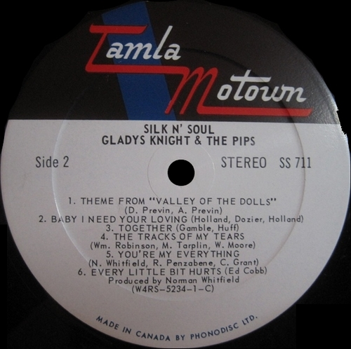 "Gladys Knight & The Pips : Album "" Silk N' Soul "" Soul Records SS 711 [ US ]"