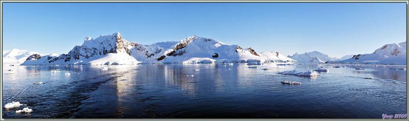 Navigation dans Gerlache Strait vers Almirante Brown (base argentine) et Skontorp Cove - Péninsule Antarctique