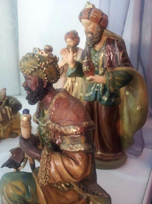 La crèche dans l'église de Saint- Médard