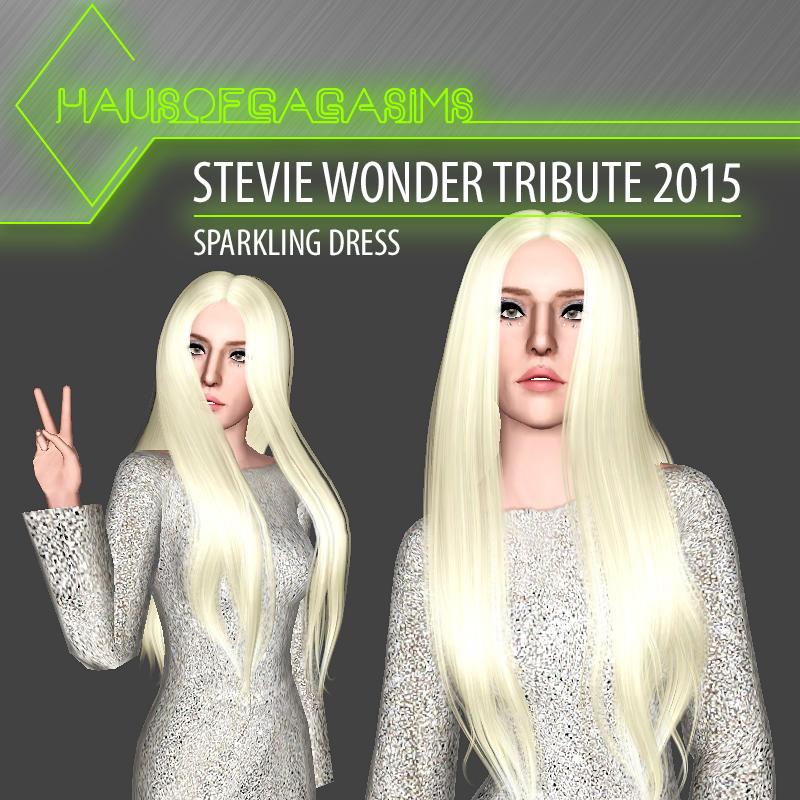 STEVIE WONDER TRIBUTE 2015 SPARKLING DRESS