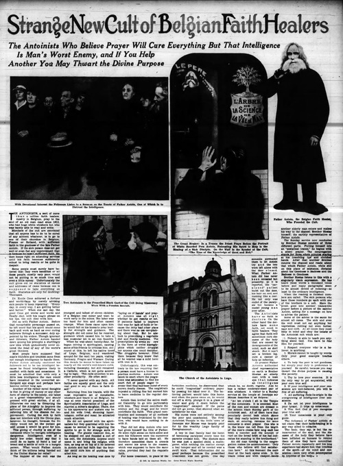 Reportage sur les Antoinistes (Albany NY Times Union 1936 - 0709)