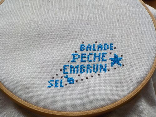 Nouvelle broderie.