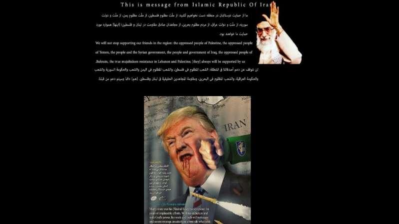 Des hackers pro-Iran piratent un site officiel américain et affichent une photo de Donald Trump ensanglanté