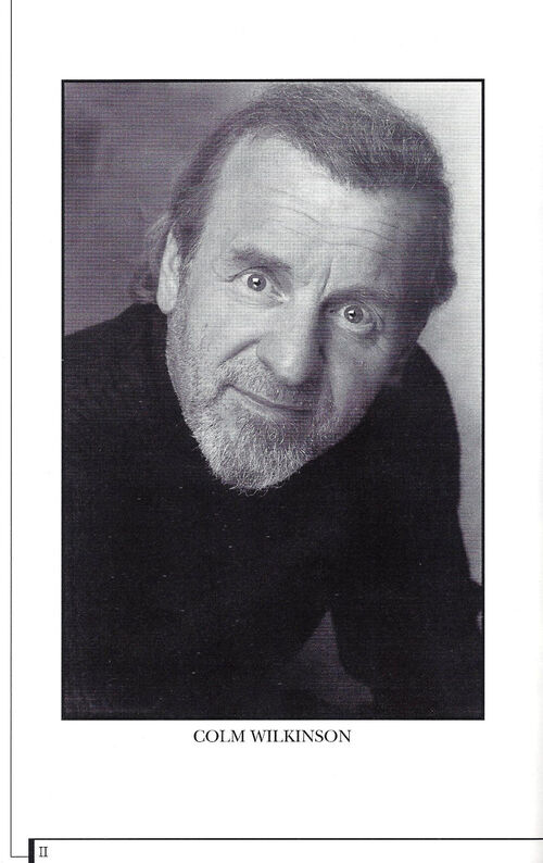 Colm  Wilkinson -Les Miserables - Toronto - Brochure - 1998-