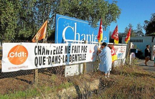 Avant sa fermeture, l'usine Chantelle de Lanester avait été occupée en septembre2016 par les salariés.