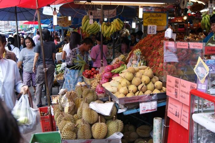 Photos de Thaïlande_21.  Marché de Pattaya.