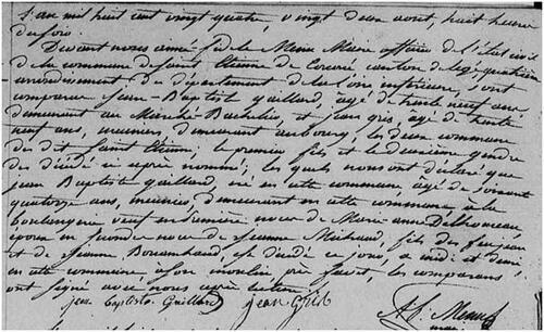 Saint-Etienne-de-Corcoué, 1794....