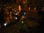 Lampes solaires,la nuit