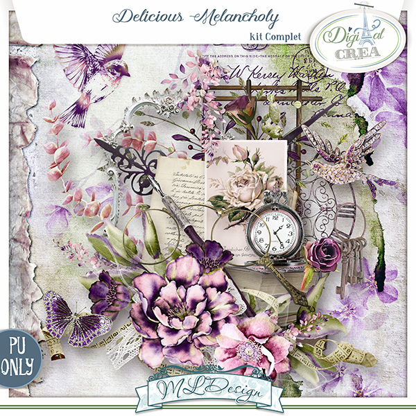 Delicious Melancholy by MLDesign _ Kit Complet