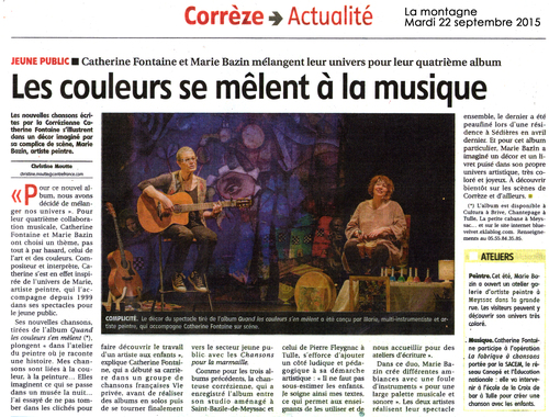 Article de Christine Moutte pour La Montagne