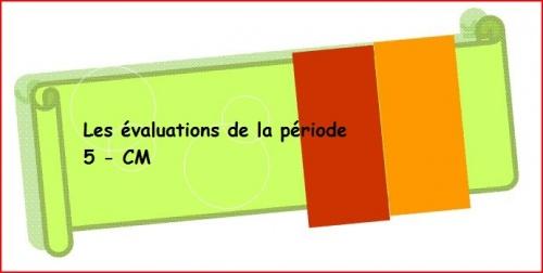 évaluations mathématiques période 5 2012 cm1