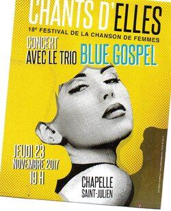 Le trio Blue Gospel à la chapelle ce soir,