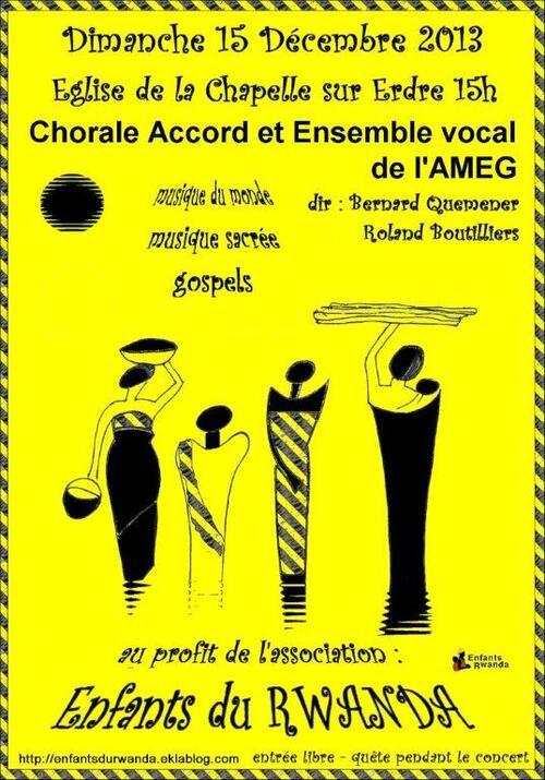 Concert équitable à La Chapelle sur Erdre le dimanche 15 décembre à 15 heures