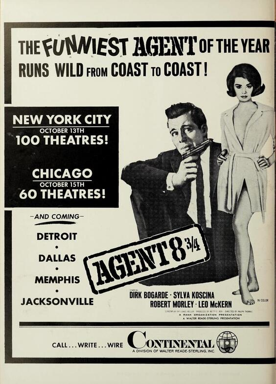 AGENT 8¾ BOX OFFICE USA 1965
